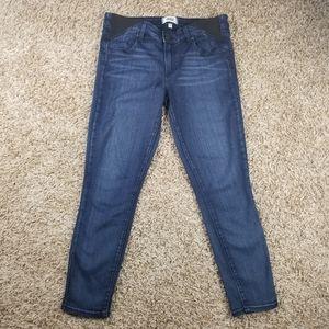 PAIGE| maternity medium wash crop jeans size 30